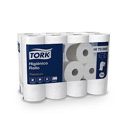 Papel Higiénico en Rollo Tork Premium Doble Hoja en Bolsa de 1 Paquete de 24 Rollos de 20 Mts.