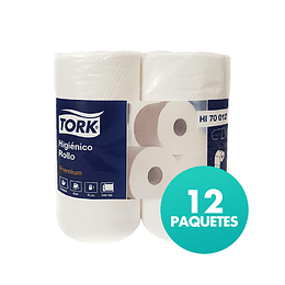 Papel Higiénico Rollo DH Tork Premium 12 Paquetes de 4 Rollos de 30 MTS.