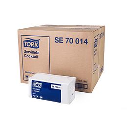 Servilleta Cócktail Acolchada. Caja de 24 Paquetes de 200 Servilletas C/U de 22 CMS X 23,5 CMS Tork Universal.