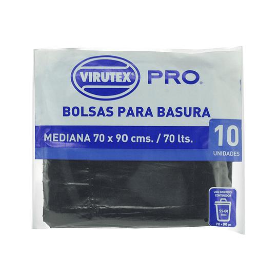 Bolsas de Basura Plana 70x90 cm 10 Unidades - Virutex Pro.