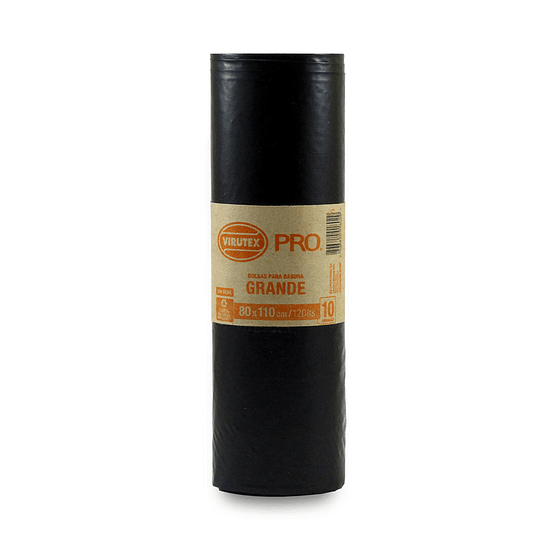 Bolsa Basura Biorollo 80x110 - Virutex Pro 10 Unidades.