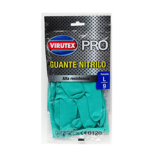 Guantes Especiales Nitrilo Verde L - Virutex Pro.