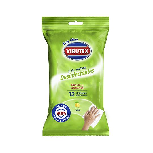 Toallas Desinfectantes Multiuso Limón/12 - Easy Clean