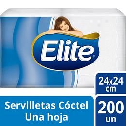 Servilletas Elite Coctel 200 Unidades