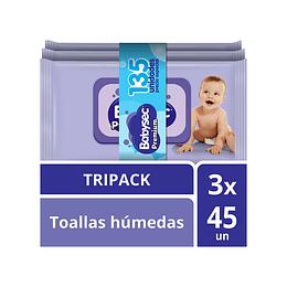 Toallas Humedas Babysec Premium x 135.