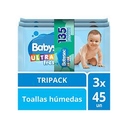 Toallas Húmedas Babysec Ultra x 135.