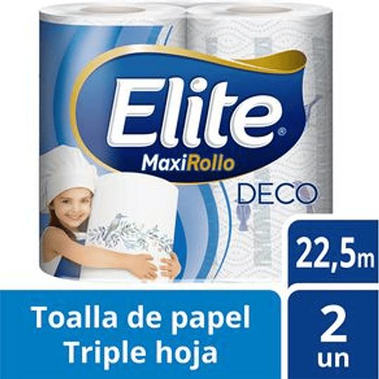 Toallas de Papel Elite Deco T/H Maxirollo x2.