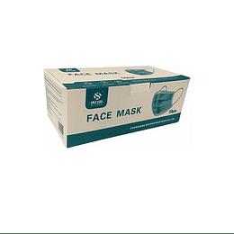 Mascarillas 3 pliegues C/Elástico Azul 50 Unidades