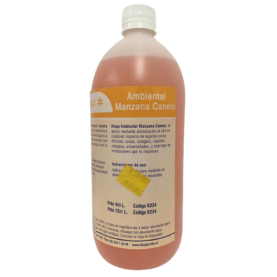 Ambiental Manzana Canela Botella 1 Litro.
