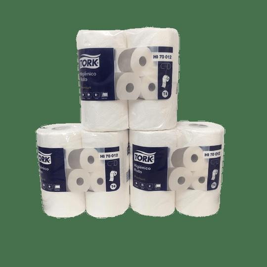 Papel Higiénico Rollo D/H Tork Premium  3 Paquetes de 4 Rollos de 30 Mts.,