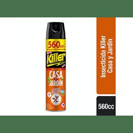 Killer Insecticida Casa y Jardin 560ml.