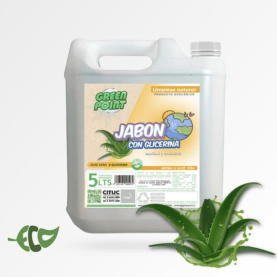 Jabon de Glicerina Aloe Vera Bidon de 5 Litros ECOLOGICO