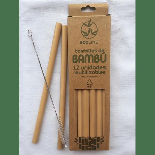 Bombillas de Bambu - 12 Unidades Reutilizables