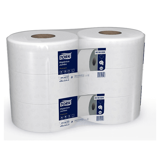 Papel Higienico Jumbo D/H 6 Rollos x 250 Mts