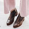 Peumo Cacao Leder Damen Ankle Boot (36, 38, 39, 40)