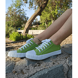 Zapatillas de Lona color Verde (35 al 39)