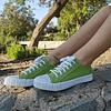 Zapatillas de Lona color Verde (35 al 39)
