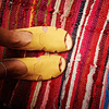 Sandalia Mujer Cuero Halcon Amarillo  (36, 37, 39)