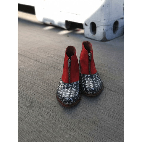 Ankle Boot Peumo Red