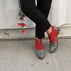 Botin Mujer Cuero Peumo Rojo & Negro (40)
