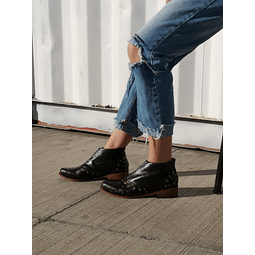 Ankle Boot Woman Leather Peumo Black Foal (5, 6, 7, 8)