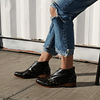 Ankle Boot Woman Leather Peumo Black Foal (5, 6, 7)