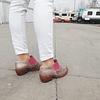 Kiri Magenta Women's Leather Ankle Boot