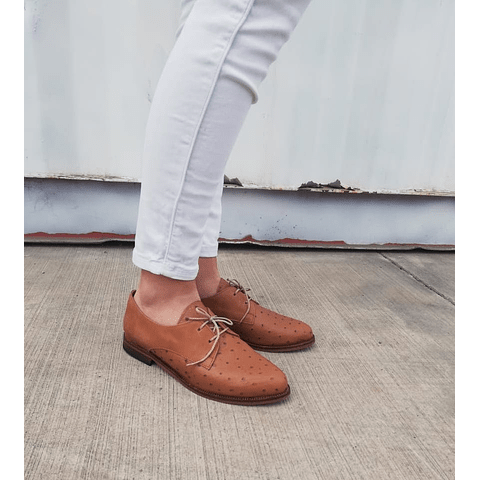 Women Leather Oxford Cipres Camel