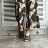 Sandalia Mujer Cuero Huala Negro (35 al 40)