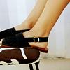 Sandal Woman Leather Huala Black (35 to 40)