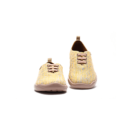 UIN Shoes Moguer Knit Yellow Unisex Urban Shoe