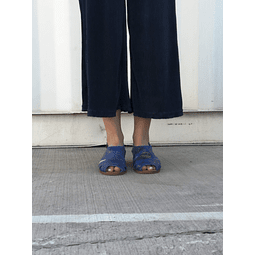 Sandal Woman Leather Halcon Blue Folia (35, 36, 37, 39, 40)