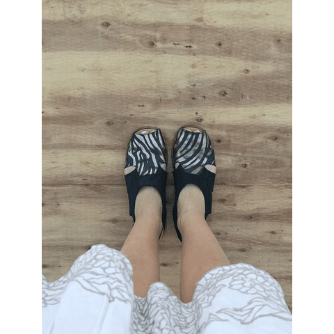Sandal Woman leather Halcon Golden Zebra (35, 37, 39, 40)