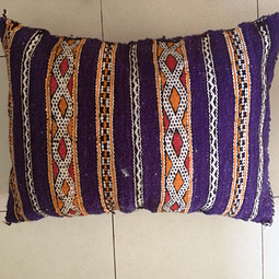 Purple Moroccan Wool Cushion