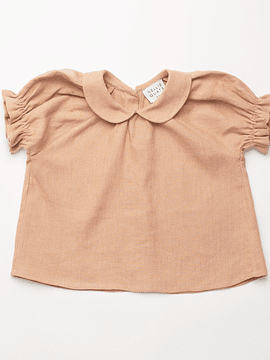 Duck, Duck, Goose Blouse - Clay Linen