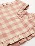 Marlow Pinafore - Rose Check Linen