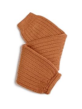 Hélène - Polainas de canalé de lana merino - Caramelo de mantequilla salada