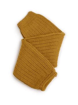 Hélène - Polainas de canalé de lana merino - Mostaza de Dijon