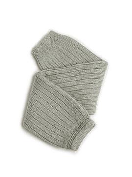 Hélène - Polainas de canalé de lana merino - Aguamarina