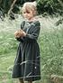 Falda con tirantes Muguet en felpa, 2 colores