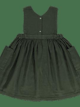 Vestido Mangue, Forest Green