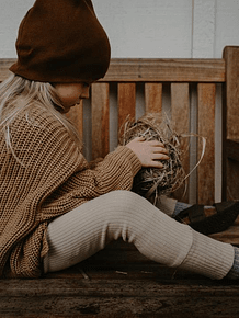 The Ribbed Legging, Ecru