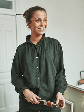 Blusa Mujer Rosier, Forest Green