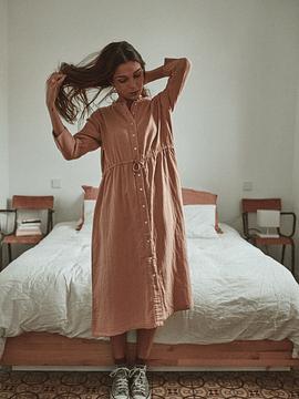 Vestido Girofle Mujer, Maple Sugar
