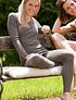 Leggings Mujer Engel, Merino Wool and Silk, walnut