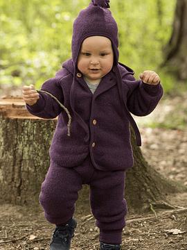 Gorro bebé, Merino Wool Fleece, walnuss