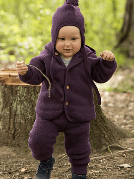 Gorro bebé Merino Wool Fleece, Rosenholz