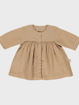 Vestido Aubépine, indian tan, 6m a 9m