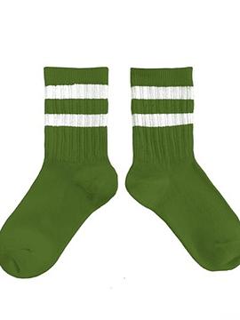 Calcetín rayas, verde