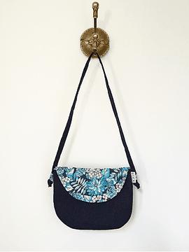 Cotton wallet, blue